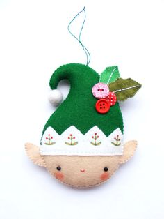 Felt Christmas Elf Ornament