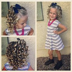 Pinterest ideas of @diaryofablessedmom Girls Natural Hairstyles, Dance Hairstyles, Flower Girl Hairstyles, Princess Hairstyles, Little Girl Hairstyles, Cute Hairstyles, Hair Dos For Kids, Wacky Hair, Girl Hair Dos