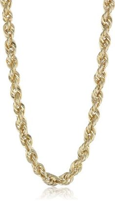 Men's Yellow Gold Hollow Rope Chain Necklace Pearl Pendant Necklace, Rope Necklace, Men Necklace, Gold Rope Chains, Gold Chains For Men, Pendant Set, Cross Pendant, Gold Jewelry, Chain Jewelry