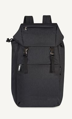 Kortteli black backpack by Marimekko