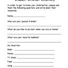 Send this home at the beginning of the year to gather some information about your students' interests....