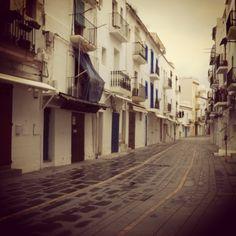 The deserted streets of ibiza Town  #ibiza #ibiza2013 #villas #old #holidays #villas #summer #sun #photography #filter #fiesta #sea #party