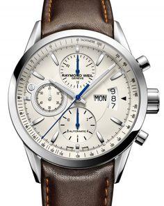 Raymond Weil | Freelancer Chronograph | Steel #luxurywatch #raymondweil Raymond-Weil. Swiss Luxury Watchmakers watches #horlogerie @calibrelondon