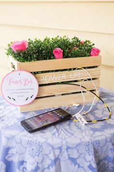 DIY Wedding Cell Phone Charging Station