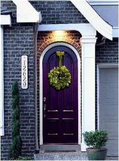Purple Front Door -