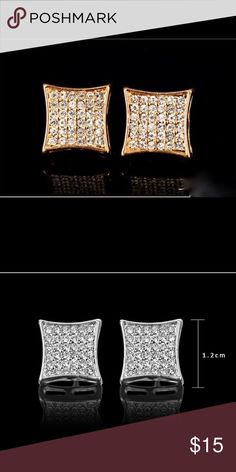 HP5 ⭐️ rated Men silver / gold plated earrings Men silver / gold plated earrings Accessories Jewelry