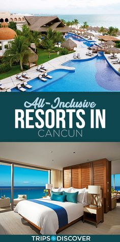 Cancun is famous for its all-inclusive perks, with lots of resorts to choos Best Cancun Resorts, Cancun Mexico Resorts, Top All Inclusive Resorts, Couples Resorts, Cancun Hotels, Mexico Vacation, Hotels And Resorts, Maui Vacation, Beach Hotels