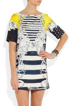 Emma Cook | Printed sateen dress | NET-A-PORTER.COM