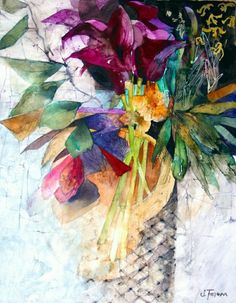 Deep Purple Lilies print by Shirley Trevena Watercolor Artists, Watercolor And Ink, Watercolor Flowers, Watercolor Paintings, Watercolor Portraits, Watercolor Landscape, Abstract Paintings, Purple Lily, Deep Purple