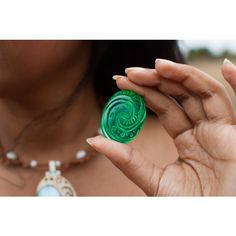 Moana- Heart of Te Fiti Replica ($20) ❤ liked on Polyvore featuring home, home decor, handmade home decor, dragon home decor, christmas home decor, sea home decor and ocean home decor