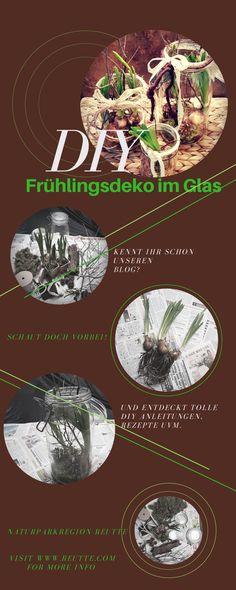 DIY Frühlingsdeko im Glas #naturparkregionreutte #diy #dekoration #basteln #anleitung Inspiration, Tutorials, Natural Materials, Diy Decoration, Decorating Ideas, Corning Glass, Biblical Inspiration, Motivation