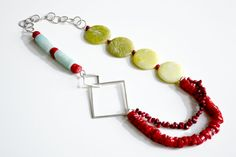 Semi Precious Stones and Sterling Silver Necklace by HaddySmash