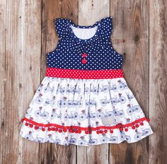 Eleanor Rose - Red, White and Bike - Tunic Top - 2