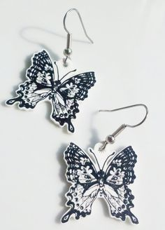 Butterfly Shrinky Dink Earrings