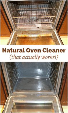 Natural Oven Cleaner Recipe with only 2 ingredients + water! | RecipeswithEssentialOils.com
