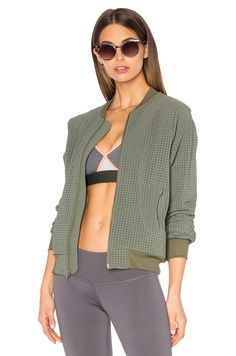 ∞ Touche LA TOUCHE x MORGAN STEWART Brendon Bomber Jacket in Olive
