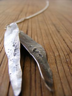 SILVER LEAFS, inspierd by the eucalyptus tree.leaf pendant, silver pendant, boho pendant, long necklace, natural necklace, statment necklace