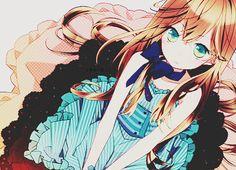 Garota Anime Loira Fofa-Kawaii