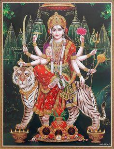 TIRAKITA: Posters of Hindu God goddess Durga victory of sparkling, India cm x cm] Durga Deva shinzoku parvathi decor art painting good luck luck luck. Maa Durga Photo, Maa Durga Image, Durga Images, Ganesh Images, Durga Ji, Durga Goddess, Indiana, Lord Ganesha Paintings, Navratri Images
