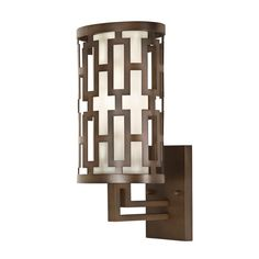 Fine Art Lamps 843481ST 1 Light Outdoor Wall Sconce from the River Oaks Collecti Dark Bronze Outdoor Lighting Wall Sconces