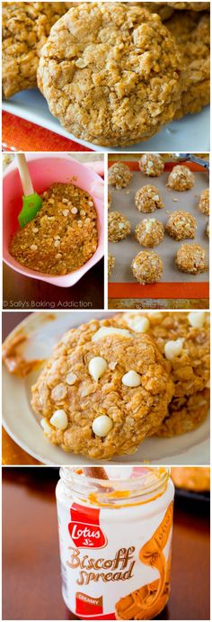 No mixer, no dough chilling, soft + chewy Biscoff Oatmeal Cookies. Quick, easy, irresistible!