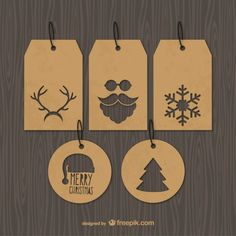Etiquetas de la Navidad vintage                                                                                                                                                                                 Más