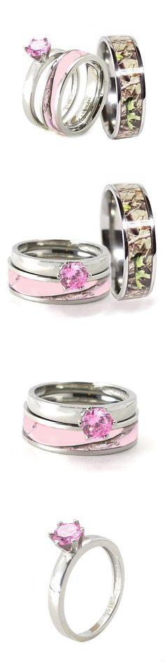 pink camo wedding ring sets - Wedding Decor Ideas