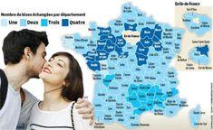 France : une, deux, trois ou quatre bises ? Une carte pour s'y retrouver