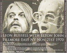 Leon Russell With Elton John / Fillmore East 1970 / Elton Jon, The Filmore, Leon Russell, Fillmore East, I Bay, 70s Party, Honky Tonk, Before Us, Concert Posters