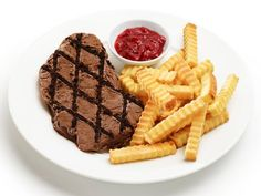 Ice Cream Steak Frites : We wouldn't normally recommend meat and potatoes for dessert, but in this case, it's the perfect treat for Dad on Father's Day: a deconstructed ice cream cake that looks like steak with a side of fries.