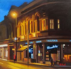 "Dimitris, Manchester by Michael John Ashcroft Oil ~ 10"" x 10"""
