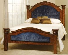 Empress Bed W/Upholstery In Oak Amish Furniture, Dining Furniture, Furniture  Making,