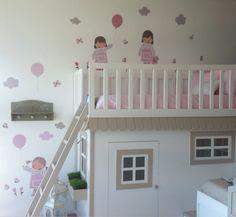 Habitacion infantil con #vinilos de #stencil barcelona