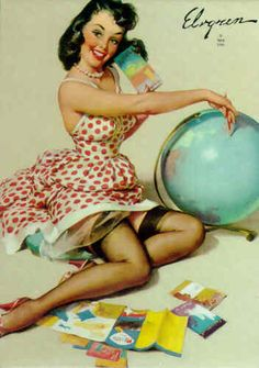 Out Of This World - Art by Gil Elvgren