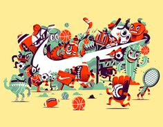 """Check out this @Behance project: """"Tshirt art for NIKE USA"""" https://www.behance.net/gallery/24459295/Tshirt-art-for-NIKE-USA"""