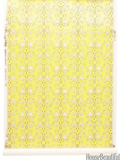 Dandelion Creatures wallpaper from studiofournyc.com. #yellow #wall_covering #damask