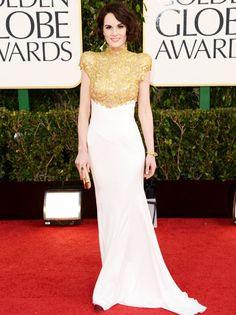 Michelle Dockery - Golden Globes 2013 Red Carpet - She is like a goddess. In Alexandre Vauthier Dresses 2013, Nice Dresses, Michelle Dockery, Downton Abbey, Alexandre Vauthier, Moda Fashion, Star Fashion, Fashion Photo, Glamour