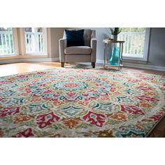 Mohawk Home Strata Jerada Area Rug (7'6 x 10') (Multi), Size 8' x 10' (Nylon, Floral)