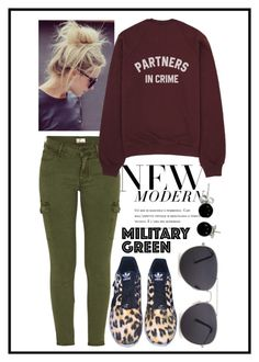 """""""Military Green #3"""" by kennm24 ❤ liked on Polyvore featuring Mother, adidas, MANGO and Bling Jewelry"""
