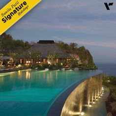 #SignatureHolidays: Stay at the Bulgari Resort , #Bali located on a stunning clifftop near the Uluwatu Temple. Uniquely positioned at more than 150 metres above the #sea shore, it offers unrivalled views across the #Indian #Ocean. It reflects a contemporary interpretation of the traditional Balinese design while conveying the distinctive #Bulgari #Italian style.