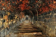 Abandoned city delivery tunnel