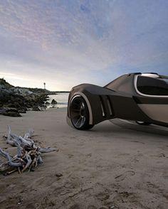 amphibious electric three wheeled vehicle