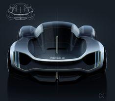 Free time sketches 2018 on Behance Car Design Sketch, Car Sketch, Muscle Cars, Futuristic Cars, Porsche Design, Car Drawings, Future Car, Future Tech, Transportation Design