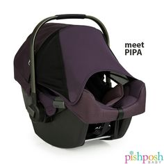 Meet PIPA, the infant car seat from @nunausa usa. Aside from being loaded with safety features, its hidden Dream Drape extendable canopy keeps sun and wind away from baby, and stays put with magnets. Pair with the Pipp stroller for the ultimate travel system! Available in 5 colors!   http://www.pishposhbaby.com/nuna-pipa-infant-car-seat-w-base1.html