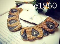 1950年代 フェイクパール&ラインストーンのレトロなヴィンテージカラー - Antique Vintage Jewelry.com fromUK