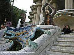 Gaudi Lizard in Park Guell, Barcelona, Spain