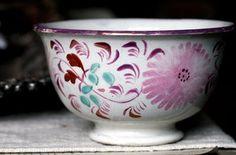 Pink Lusterware French bowl