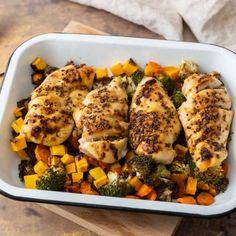Batch Cooking - Menus et recettes pour la semaine du 23 septembre 2019 Batch Cooking, Lunch Recipes, Meal Prep, Filets, Prepping, Food Porn, Lunch Box, Chicken, Healthy