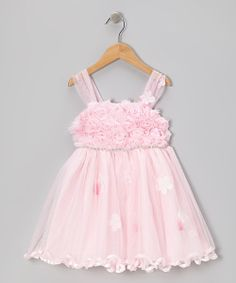 With an embellished rosette bodice, a sparkling trim and gauzy mesh overskirt, this flowery frock is abloom with sweetness and whimsical style. 100% polyesterMachine wash; hang dryImported