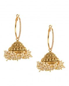 #jhumka #gold #bling #indian fashion